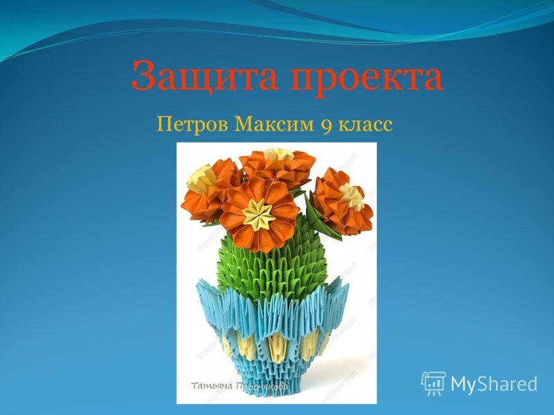 Защита проекта Петров Максим 9 класс