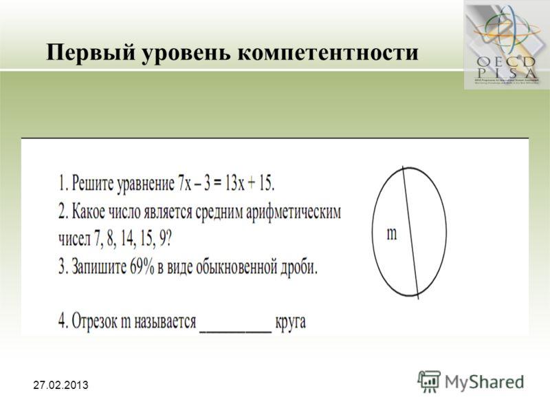 27.02.2013 Первый уровень компетентности