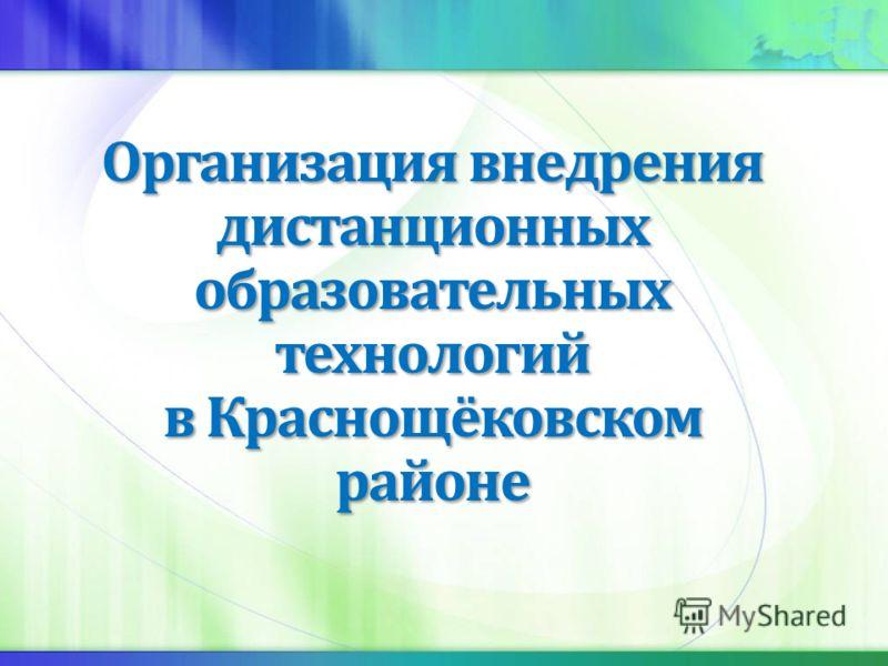 Организация внедрения дистанционных образовательных технологий в Краснощёковском районе