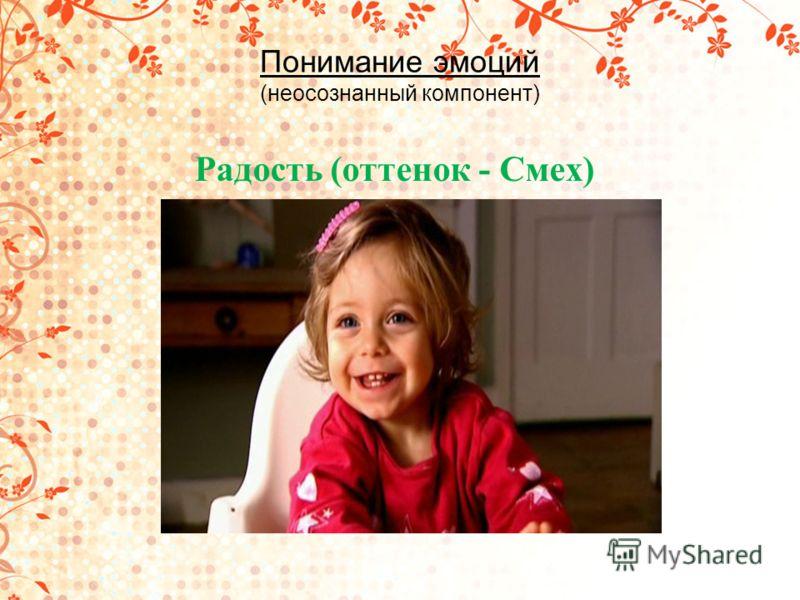 Понимание эмоций (неосознанный компонент) Радость (оттенок - Смех)