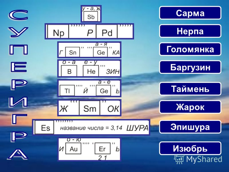 Сарма Нерпа Голомянка Баргузин Таймень Жарок Эпишура Изюбрь