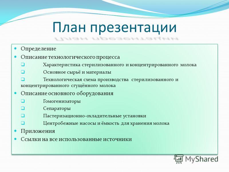 План презентации Определение