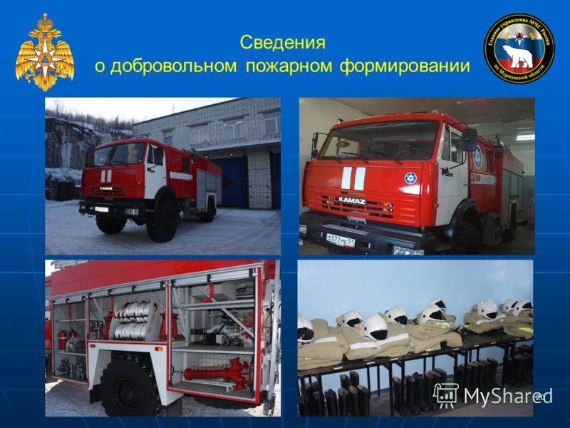 20 Сведения о добровольном пожарном формировании