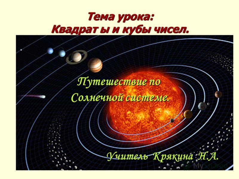 Тема урока: Квадрат ы и кубы чисел. Путешествие по Солнечной системе. Учитель Крякина Н.А.