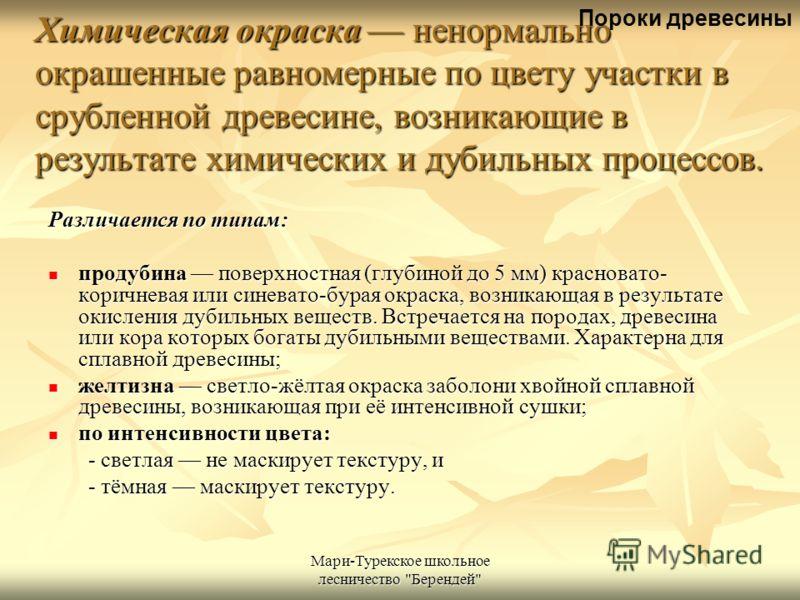 Мари-Турекское школьное лесничество