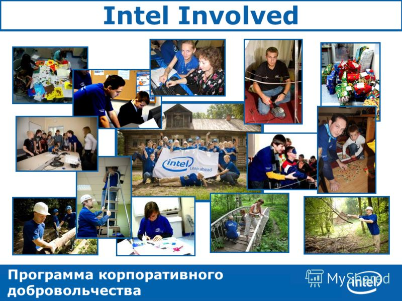 Corporate Affairs 1 CGIGNALAGA Intel Involved Программа корпоративного добровольчества корпорации Intel