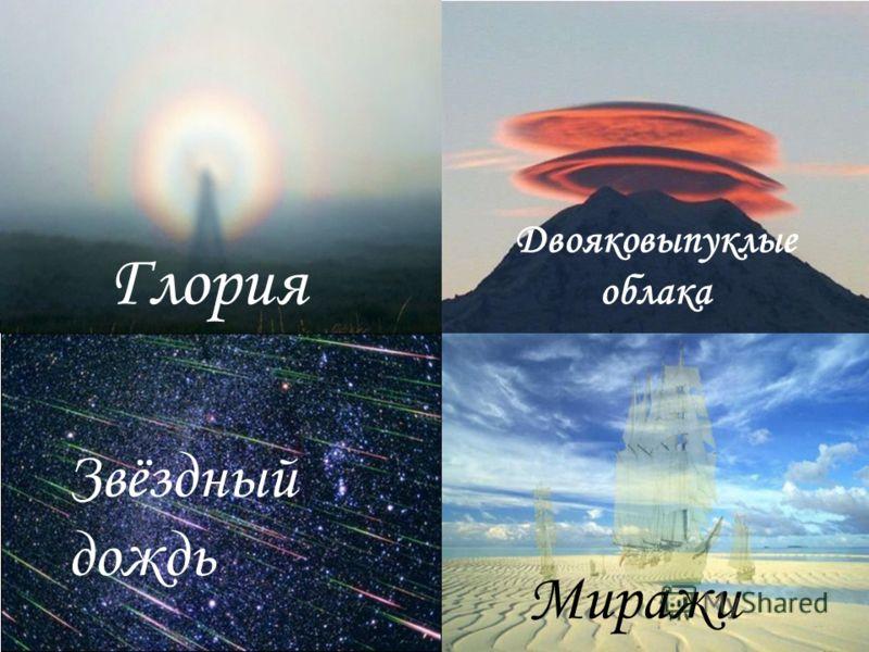 Глория Двояковыпуклые облака Звёздный дождь Миражи