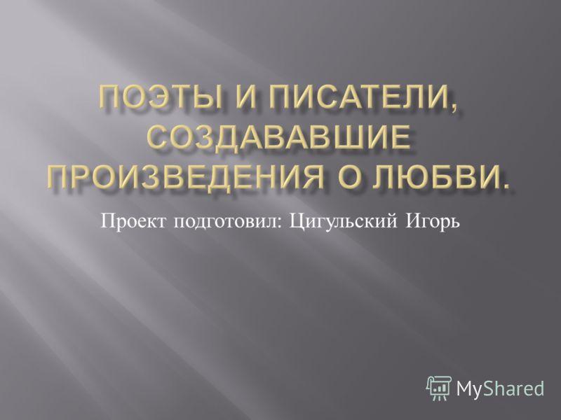 Проект подготовил : Цигульский Игорь