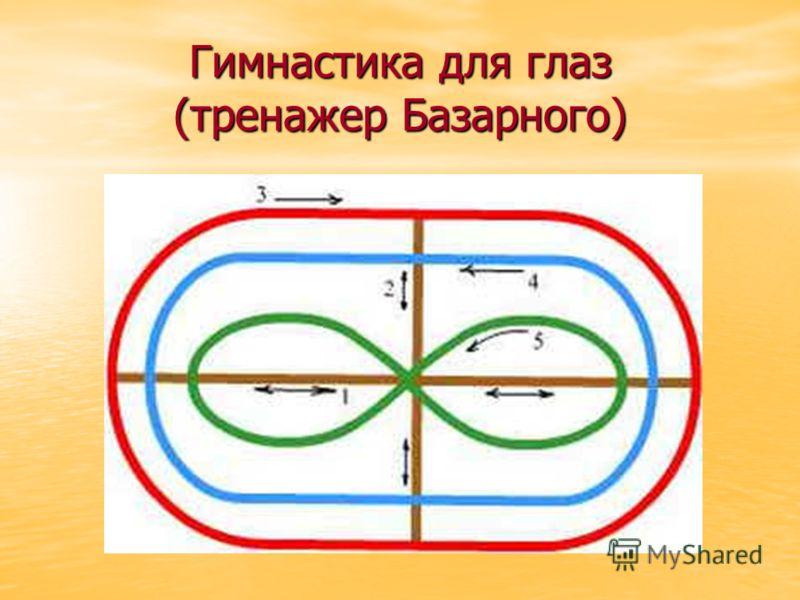 Гимнастика для глаз (тренажер Базарного)