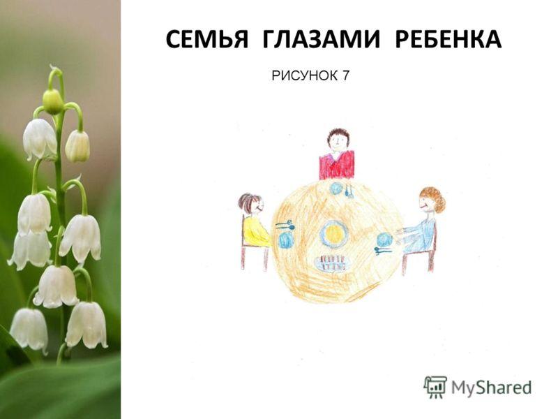 СЕМЬЯ ГЛАЗАМИ РЕБЕНКА РИСУНОК 7