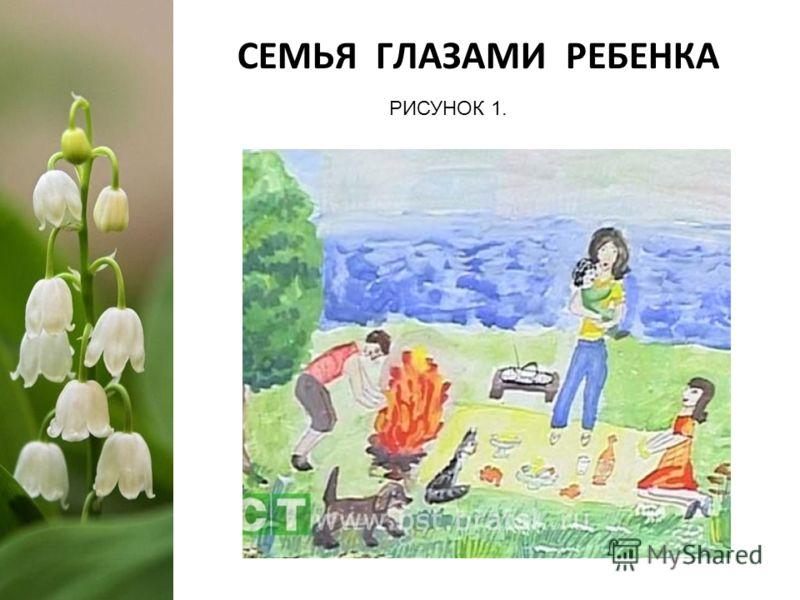 СЕМЬЯ ГЛАЗАМИ РЕБЕНКА РИСУНОК 1.