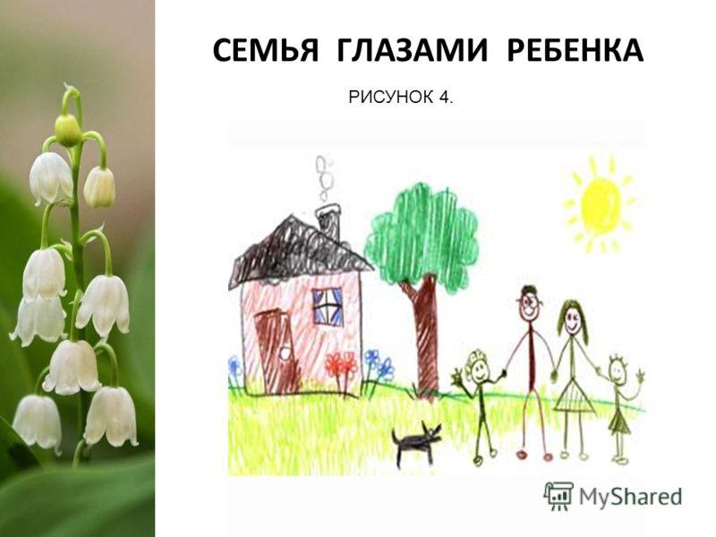 СЕМЬЯ ГЛАЗАМИ РЕБЕНКА РИСУНОК 4.