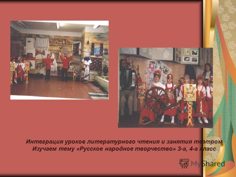 (((((((((( Интеграция уроков литературного чтения и занятия театром Изучаем тему «Русское народное творчество» 3-а, 4-а класс