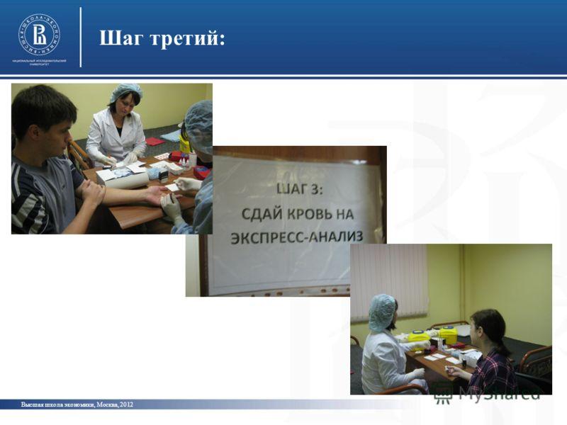 Шаг третий: Высшая школа экономики, Москва, 2012