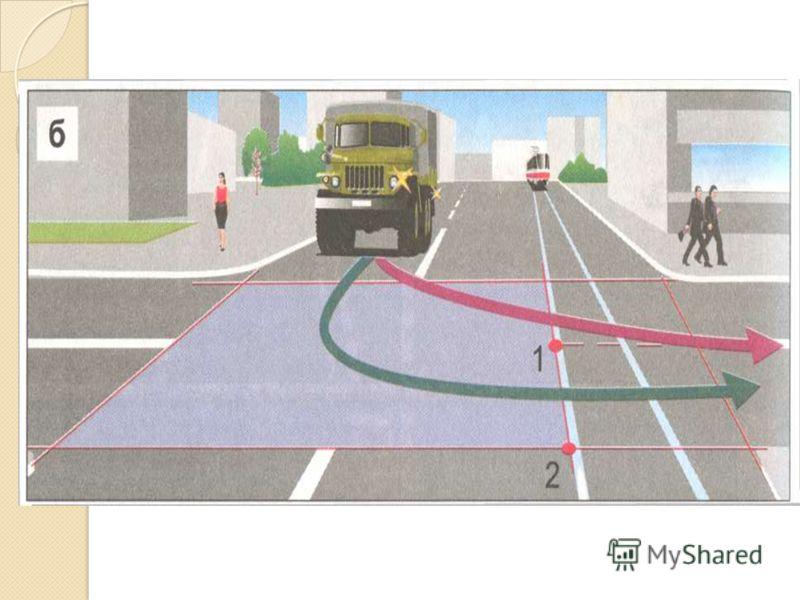 Движение автомобиля – между точками 1 и 2