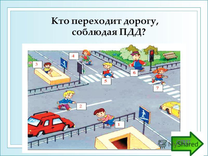 Кто переходит дорогу, соблюдая ПДД? ОТВЕТ
