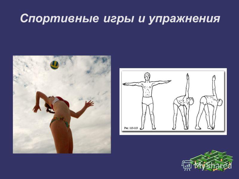 Спортивные игры и упражнения