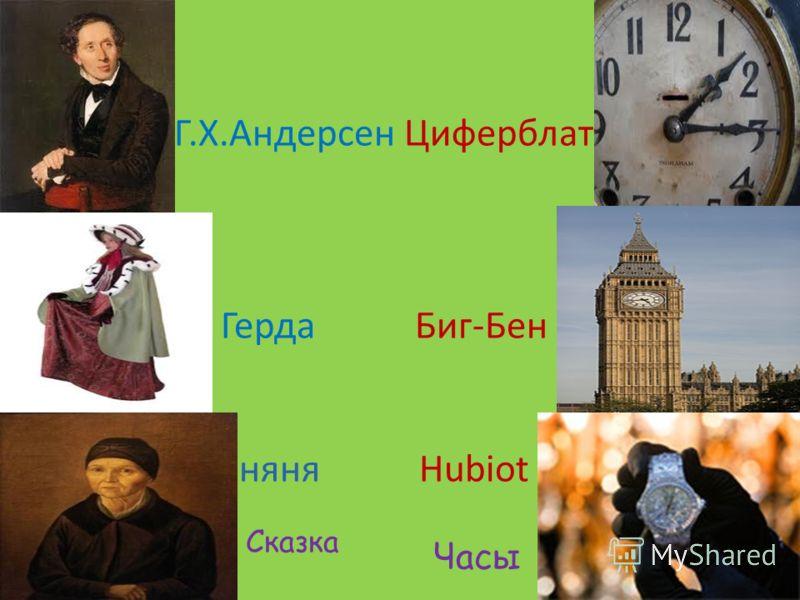 Г.Х.Андерсен Циферблат Герда Биг-Бен няня Hubiot Сказка Часы