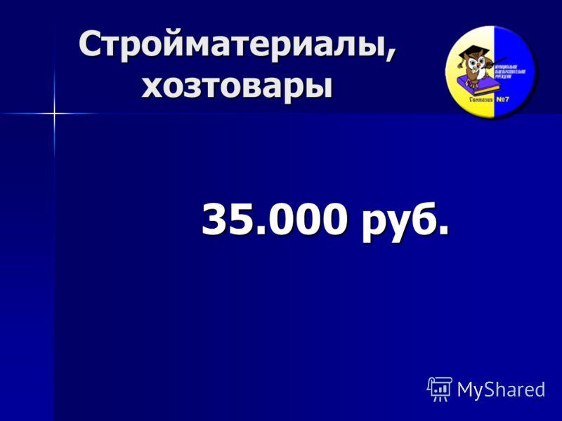 Стройматериалы, хозтовары 35.000 руб.