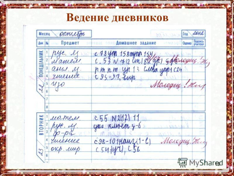 18 Ведение дневников