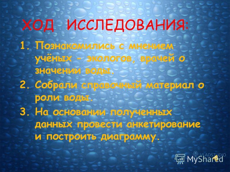 ГИПОТЕЗА: Если не будет воды, то не будет жизни.