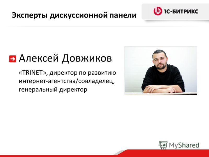 Эксперты дискуссионной панели Алексей Довжиков «TRINET», директор по развитию интернет-агентства/совладелец, генеральный директор