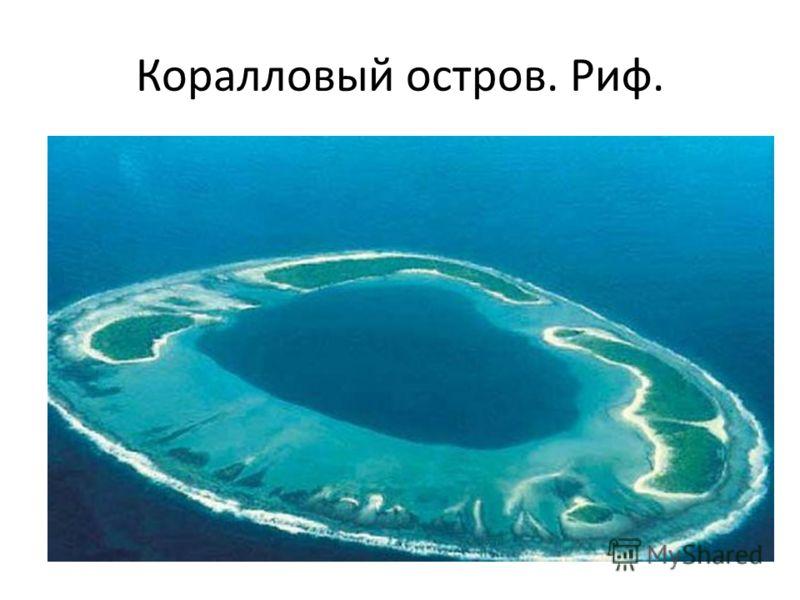 Коралловый остров. Риф.