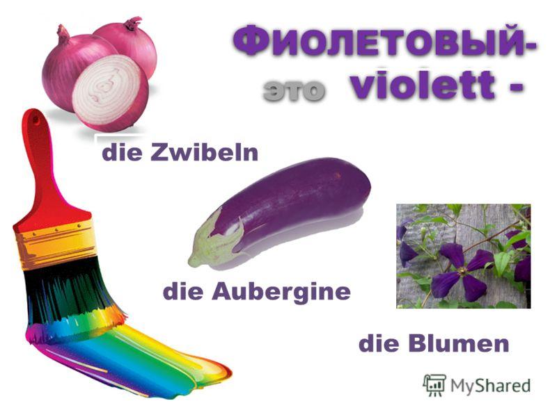 violett - Ф ИОЛЕТОВЫЙ- это die Zwibeln die Aubergine die Blumen