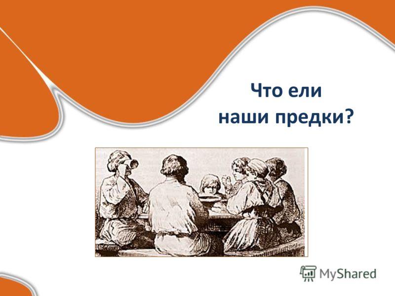 Что ели наши предки?