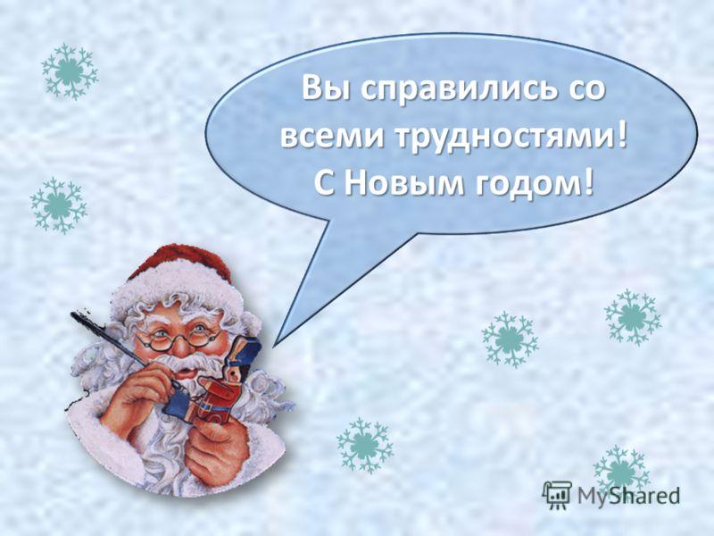Вы справились со всеми трудностями! С Новым годом!