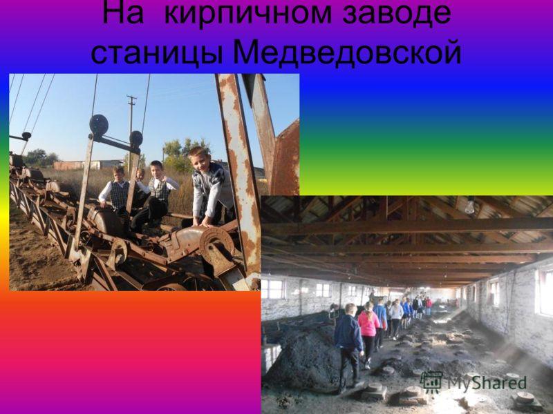 На кирпичном заводе станицы Медведовской