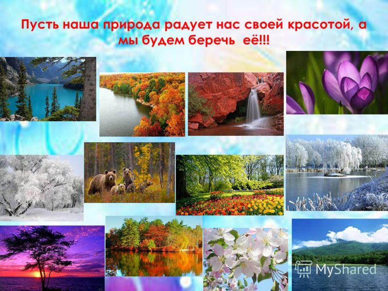 Пусть наша природа радует нас своей красотой, а мы будем беречь её!!!