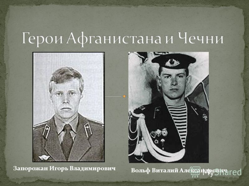 Вольф Виталий Александрович Запорожан Игорь Владимирович