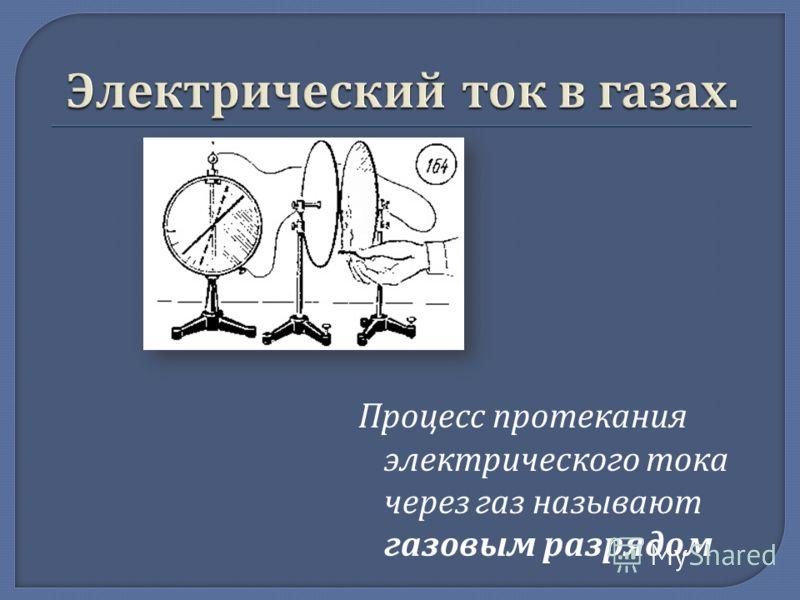 Процесс протекания электрического тока через газ называют газовым разрядом