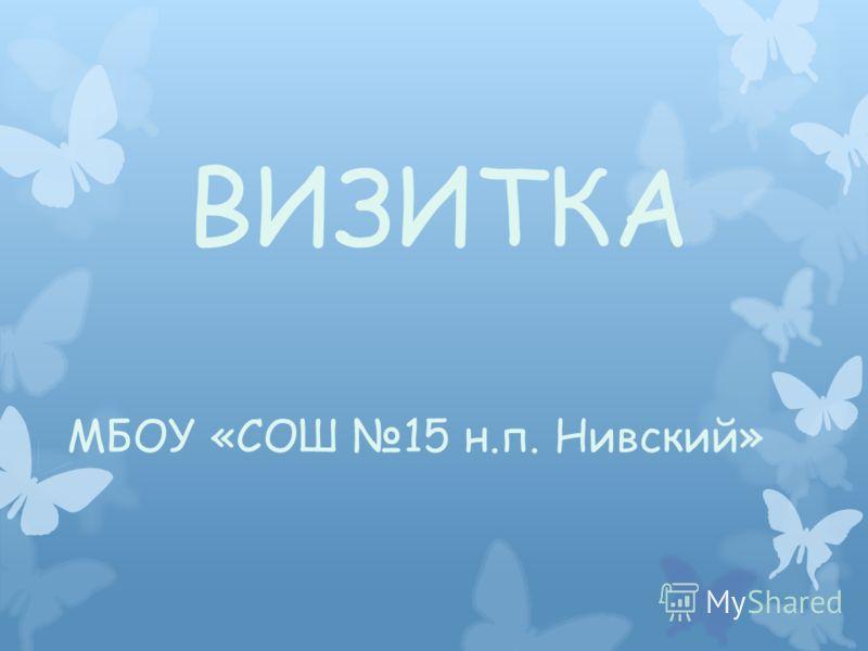 ВИЗИТКА МБОУ «СОШ 15 н.п. Нивский»