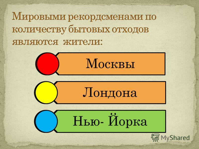 Москвы Лондона Нью-Йорка Москвы Лондона Нью- Йорка
