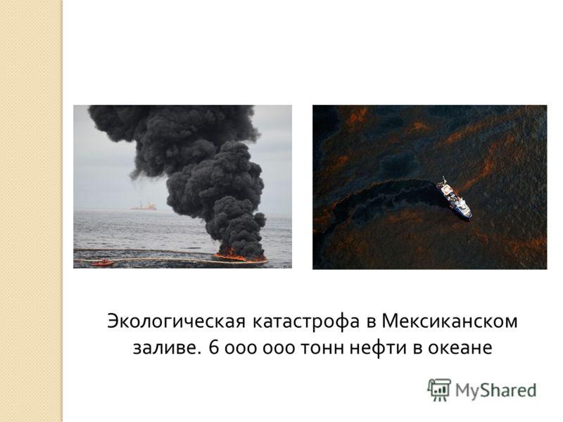 Экологическая катастрофа в Мексиканском заливе. 6 000 000 тонн нефти в океане