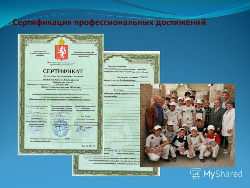 Сертификация профессиональных достижений