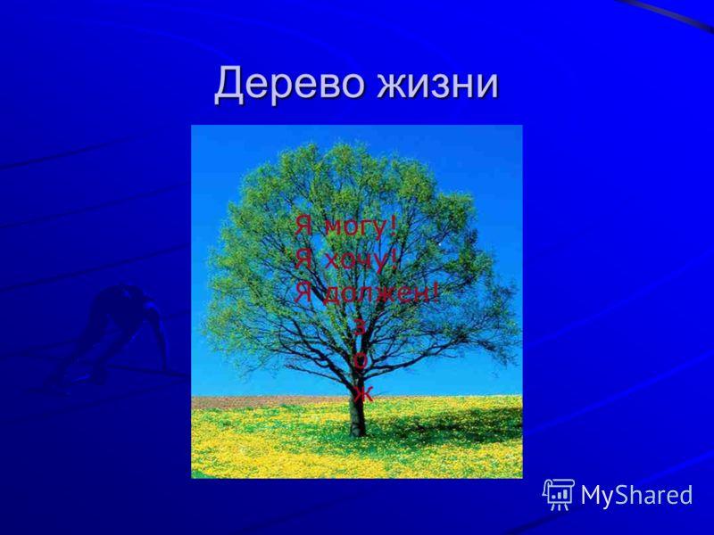 Дерево жизни Я могу! Я хочу! Я должен! з о ж