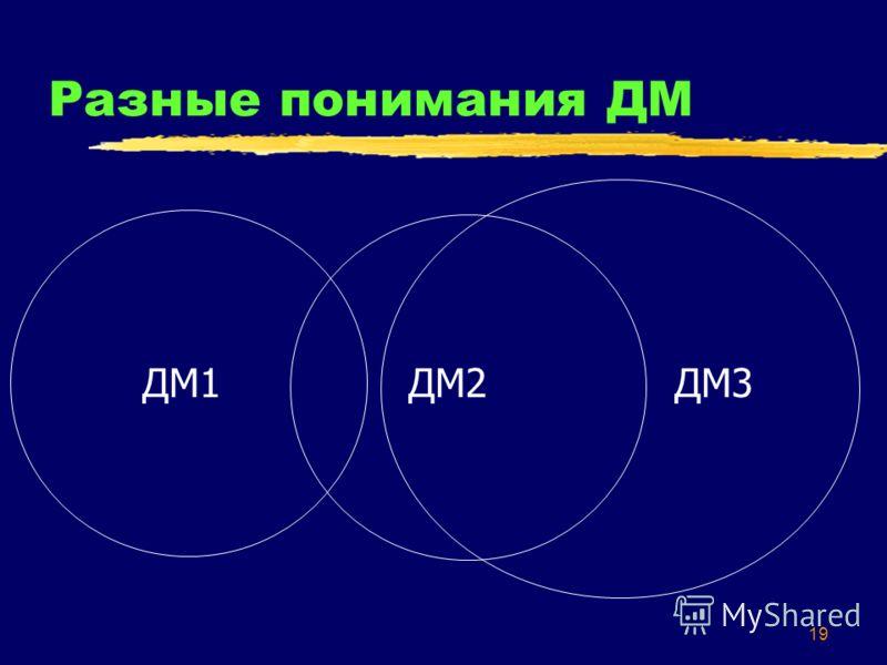 19 Разные понимания ДМ ДМ1ДМ2ДМ3