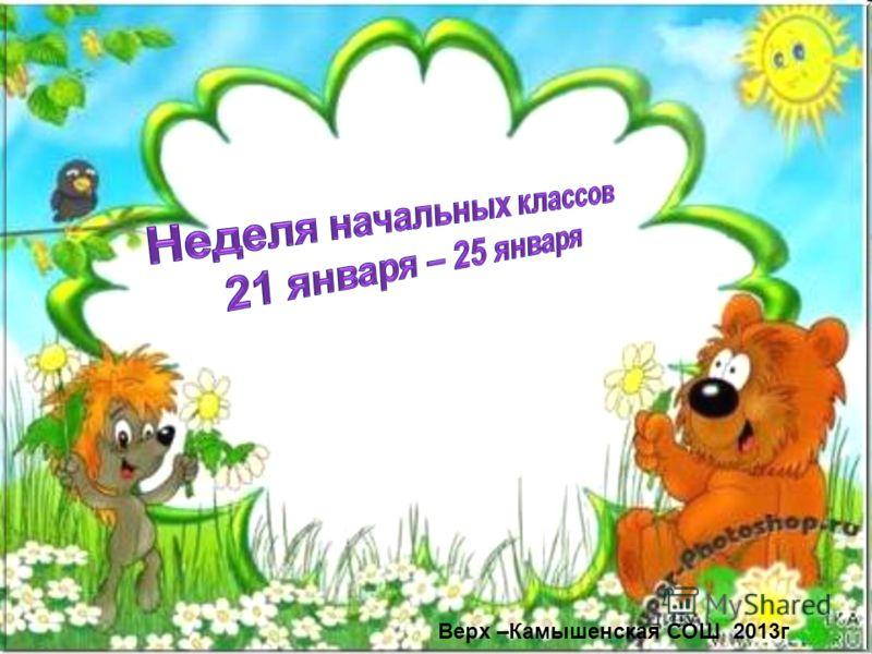 Верх –Камышенская СОШ 2013г