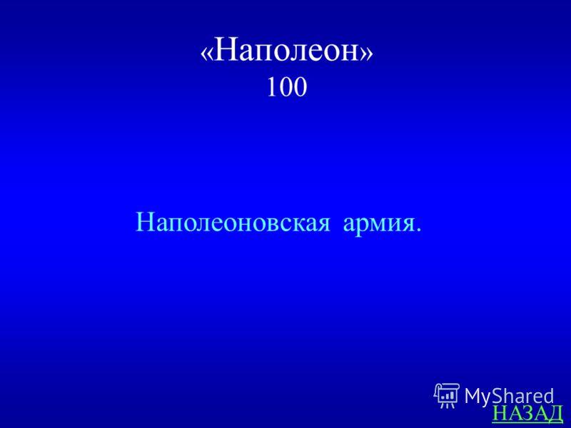 « Наполеон » 100 ответ Кто имеется в виду в пословице: «Отогрелся в Москве, а замёрз в Березине»?