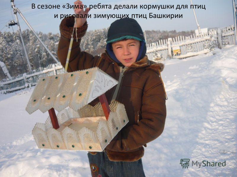 В сезоне «Зима» ребята делали кормушки для птиц и рисовали зимующих птиц Башкирии