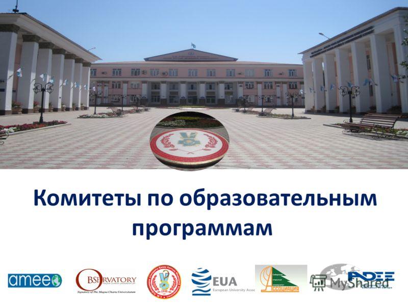 Комитеты по образовательным программам