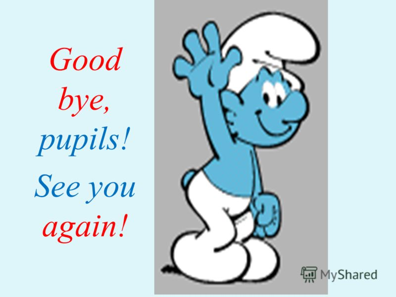 Good bye, pupils! See you again!