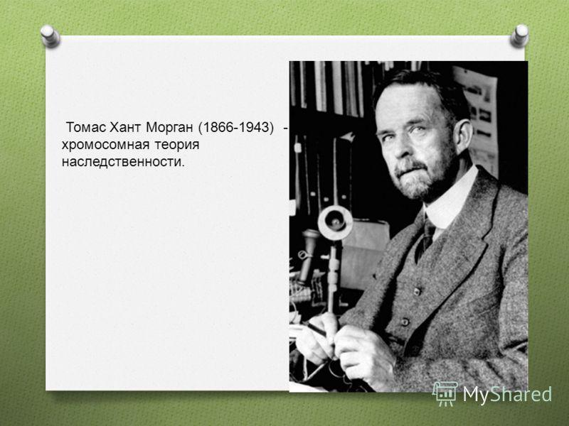 Томас Хант Морган (1866-1943) - хромосомная теория наследственности.