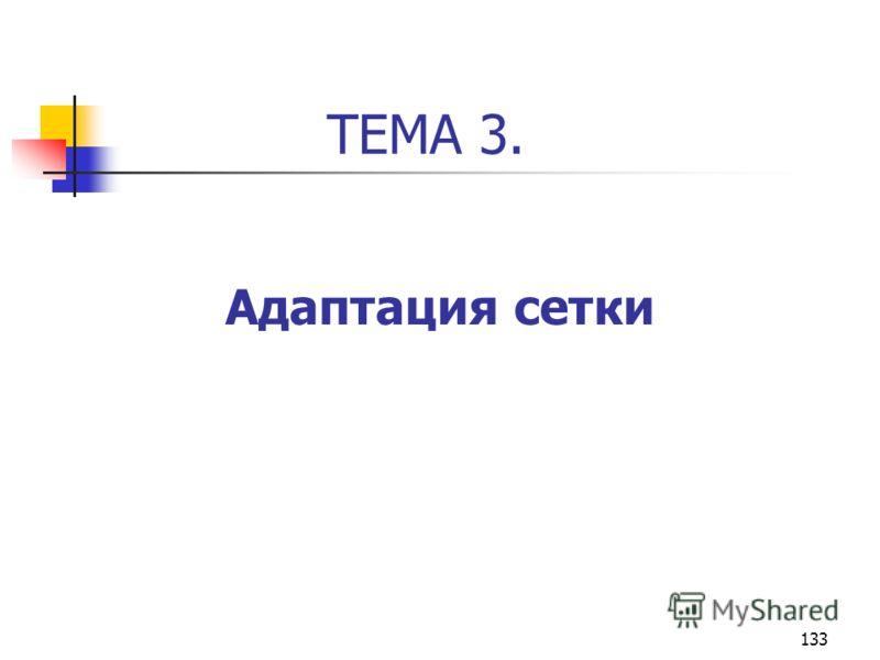 133 ТЕМА 3. Адаптация сетки