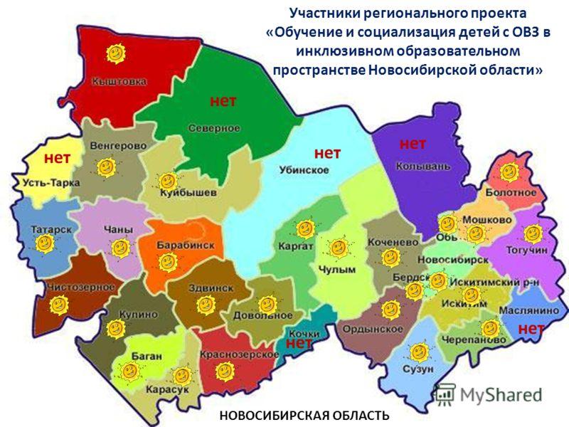 Участники регионального проекта «Обучение и социализация детей с ОВЗ в инклюзивном образовательном пространстве Новосибирской области» НОВОСИБИРСКАЯ ОБЛАСТЬ нет