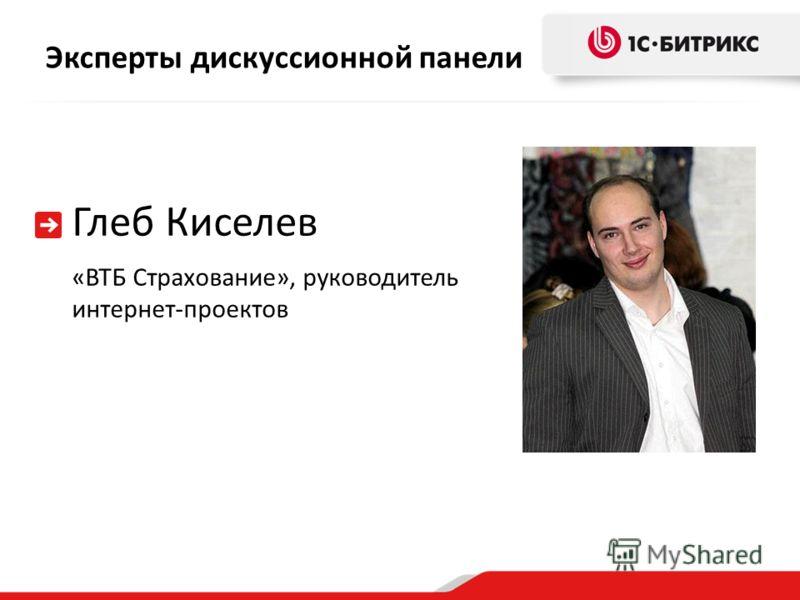 Эксперты дискуссионной панели Глеб Киселев «ВТБ Страхование», руководитель интернет-проектов