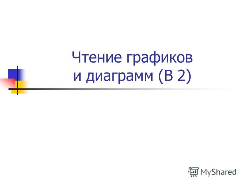Чтение графиков и диаграмм (В 2)